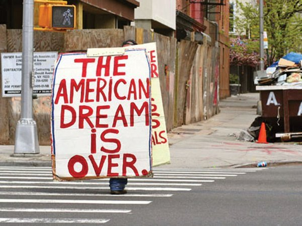 failure of american dream All people -- from millionaires with mansions living on the hilltops to the poor and unhealthy bums living on the streets -- have one goal: to reach their fullest ability, or achieve their american dream.