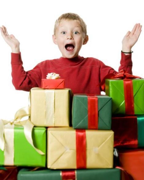 Для детей с подарок